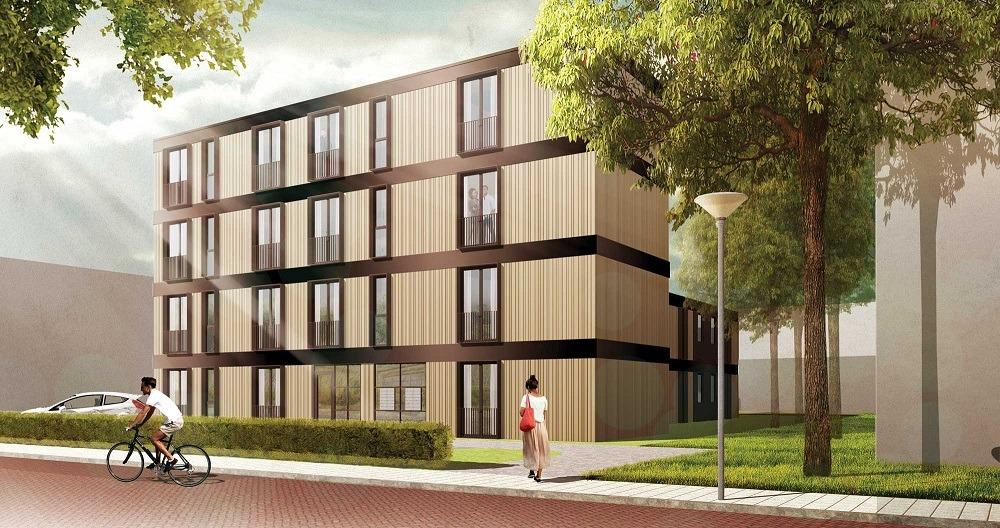 Nezzt en swz realiseren 28 appartementen in zwolle for Verplaatsbaar huis